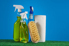 Vivid colors in washing concept Stock Image