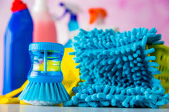 Vivid colors in washing concept Stock Photo