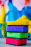 Vivid colors in washing concept Royalty Free Stock Image
