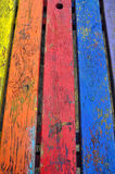 Vivid colors wood background Royalty Free Stock Photos