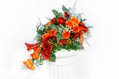 Vivid colour bouquet with a fresh flowers Stock Photos