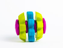 Vivid coloured rubber toy isolated Royalty Free Stock Photos
