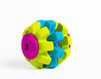 Vivid coloured rubber toy isolated. On white background Stock Photos