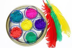 Vivid colours for holi festival Royalty Free Stock Images