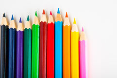 Vivid composition of color pencils Stock Photography