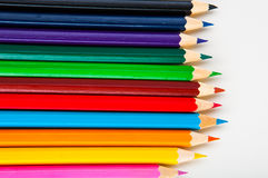 Vivid composition of color pencils Stock Images