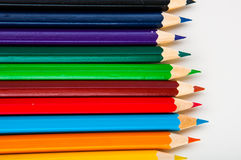Vivid composition of color pencils Stock Image