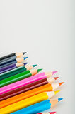 Vivid composition of color pencils Royalty Free Stock Photo