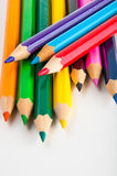 Vivid composition of color pencils Royalty Free Stock Image