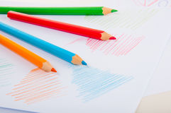 Vivid concept with wooden pencils Royalty Free Stock Image