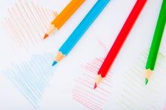 Vivid concept with wooden pencils Stock Photos