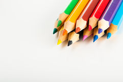 Vivid concept with wooden pencils Stock Image
