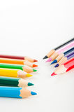 Vivid concept with wooden pencils Royalty Free Stock Images