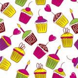 Vivid cupcakes Stock Photography