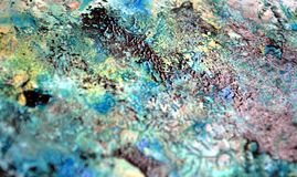 Vivid dark green background, hues, watercolor paint background. Dark green background, in blue green phosphorescent rainbow white hues, blurred vivid texture vector illustration
