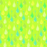 Vivid drops on light green background. Flashy green abstract vector seamless pattern for textile, prints, wallpaper etc. vector illustration