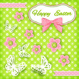 Vivid Easter card. Vector illustration Royalty Free Stock Photography