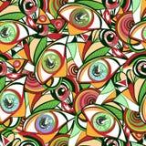 Vivid eyes vector seamless pattern Stock Photo