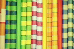 Vivid fabric samples Royalty Free Stock Photos