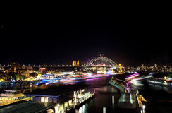 Vivid festival and ferries Royalty Free Stock Photography