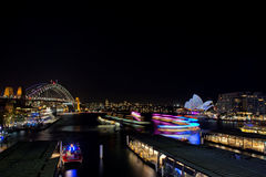 Vivid festival and ferries Stock Images