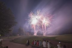 Golf Course Fireworks Display Royalty Free Stock Images