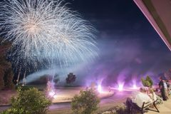 Golf Course Fireworks Display Stock Image