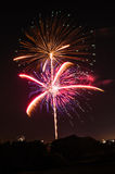 Vivid fireworks on Independence Day Royalty Free Stock Photography