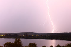 Vivid flash of lightning Royalty Free Stock Photography