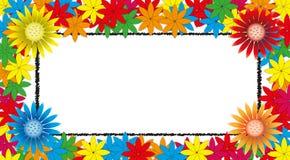 Vivid floral frame Royalty Free Stock Image
