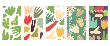 Vivid floral invitations and card template design. stock illustration