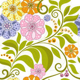 Vivid floral pattern Stock Photos