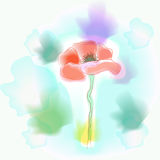 Vivid flower imitation of watercolor. Vector illustration Stock Image