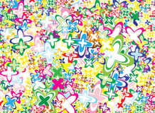 Vivid flowers background. Lot of vivid flowers - background / pattern / texture Royalty Free Stock Photo