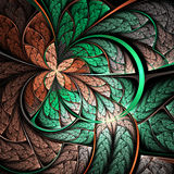 Vivid fractal butterfly or flower Royalty Free Stock Photos