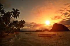 Vivid Getaway Sunset. Vivid Sunset in Getaway Tropical Destination Royalty Free Stock Photo