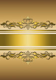 Vivid goodish background with ribbons and golden ornament Royalty Free Stock Photo