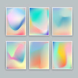 Vivid Gradient Backgrounds. Set of vector colorful posters Royalty Free Stock Photos