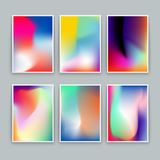 Vivid Gradient Backgrounds. Set of vector colorful posters. Suitable for any modern designs Royalty Free Stock Image