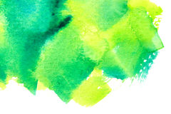 Vivid green watercolor background Royalty Free Stock Images