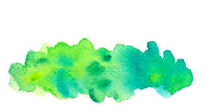 Vivid green watercolor background Royalty Free Stock Photo