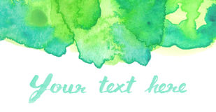 Vivid green watercolor background Stock Image