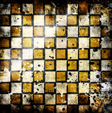 Vivid grunge chessboard backgound Royalty Free Stock Photo