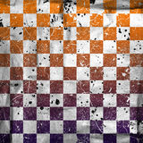 Vivid grunge chessboard backgound Royalty Free Stock Image