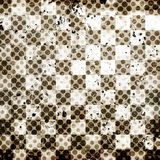 Vivid grunge chessboard backgound Stock Images