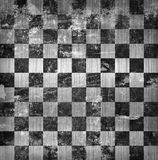 Vivid grunge chessboard backgound Stock Photography