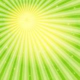 Vivid grungy frame with sun rays. Vivid grungy spring gold-green frame with sun rays (vector EPS 10 Royalty Free Stock Photo