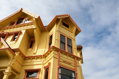 Vivid Historic Home. An historic home in downtown Eureka, California Royalty Free Stock Photo