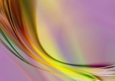 Vivid iridescent background with oval strips and curves Stock Photo