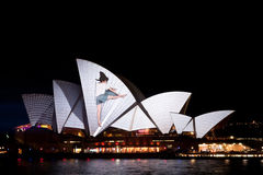 Vivid Light Festival on Sydney Opera House Stock Photography